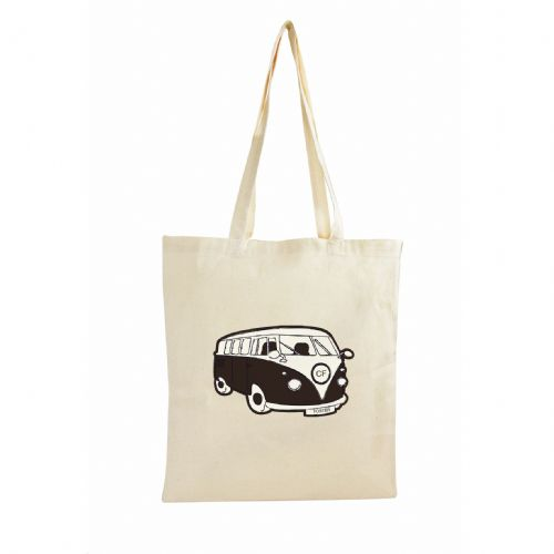 Personalised Black Campervan Cotton Bag